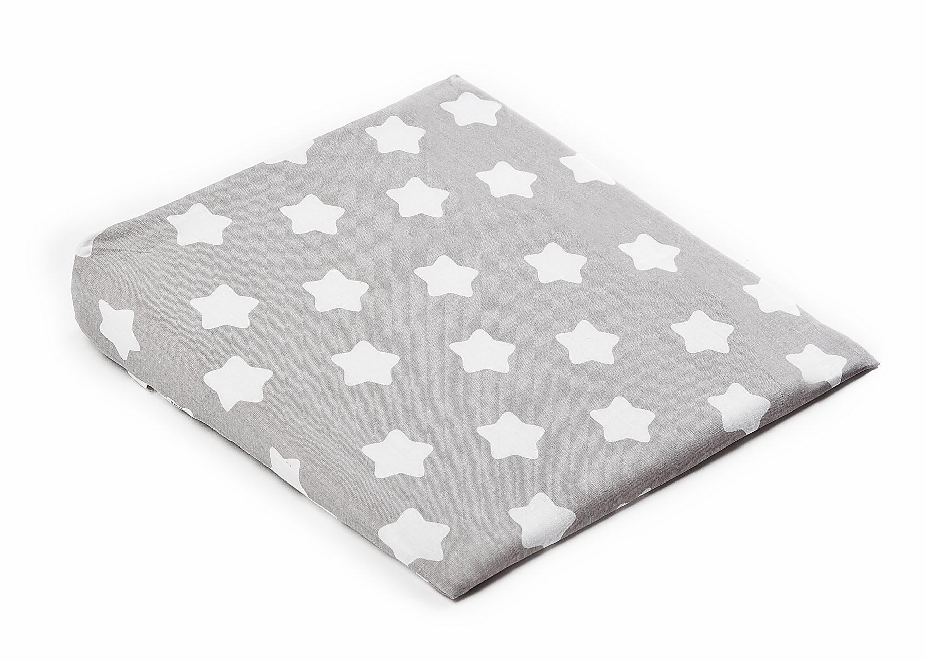 Pokrowiec na poduszkę-klin do wózka – gwiazdki szary