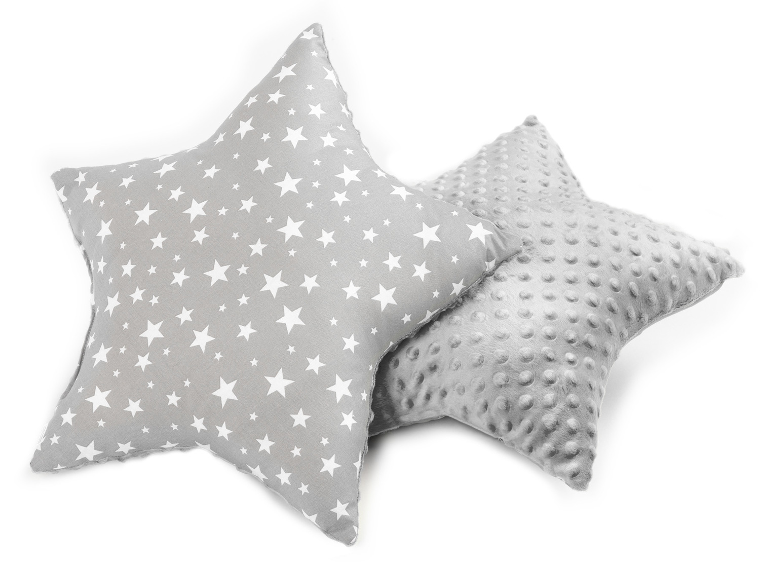 Star Pillow – stars grey