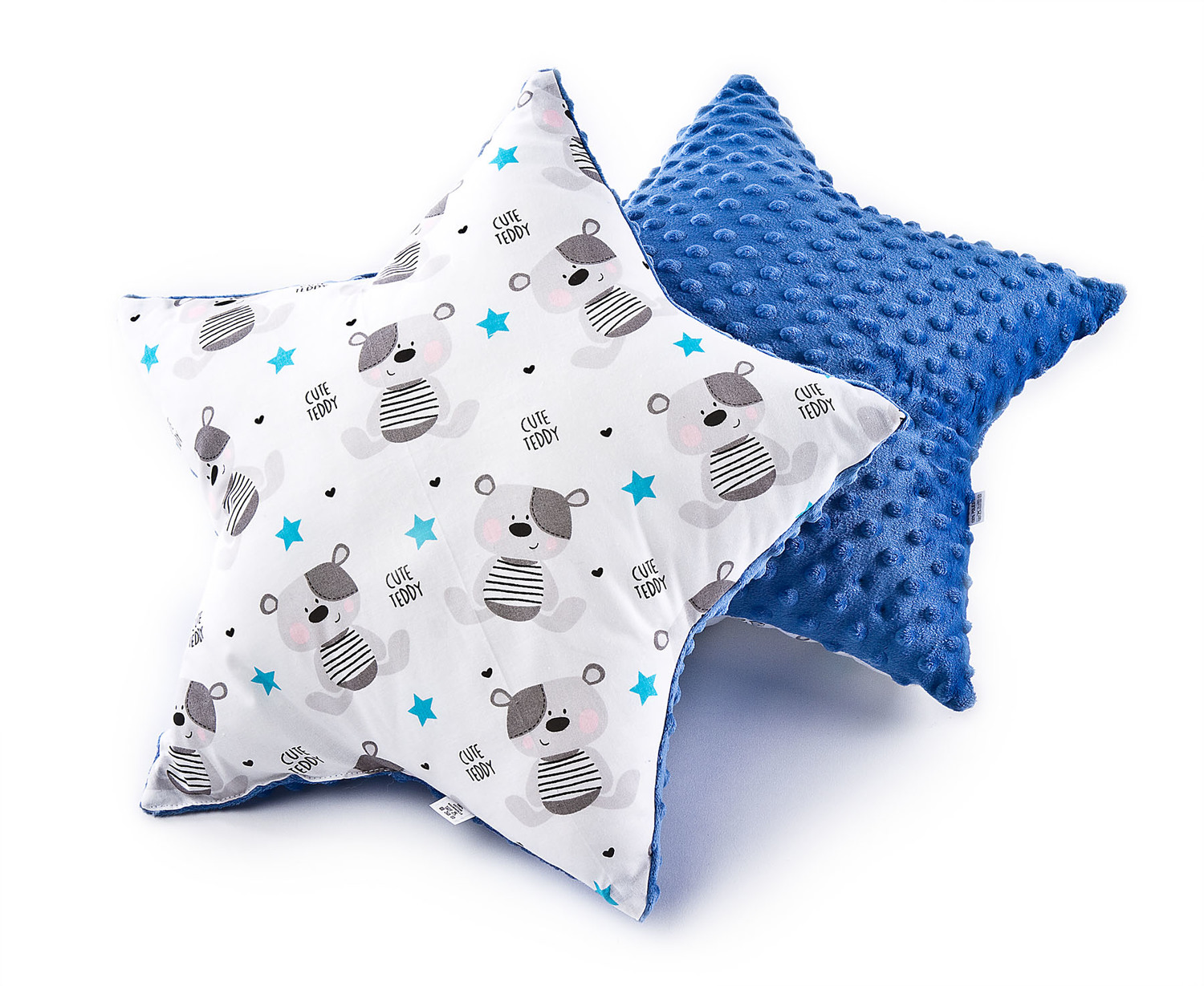 Star Pillow – bears navy blue