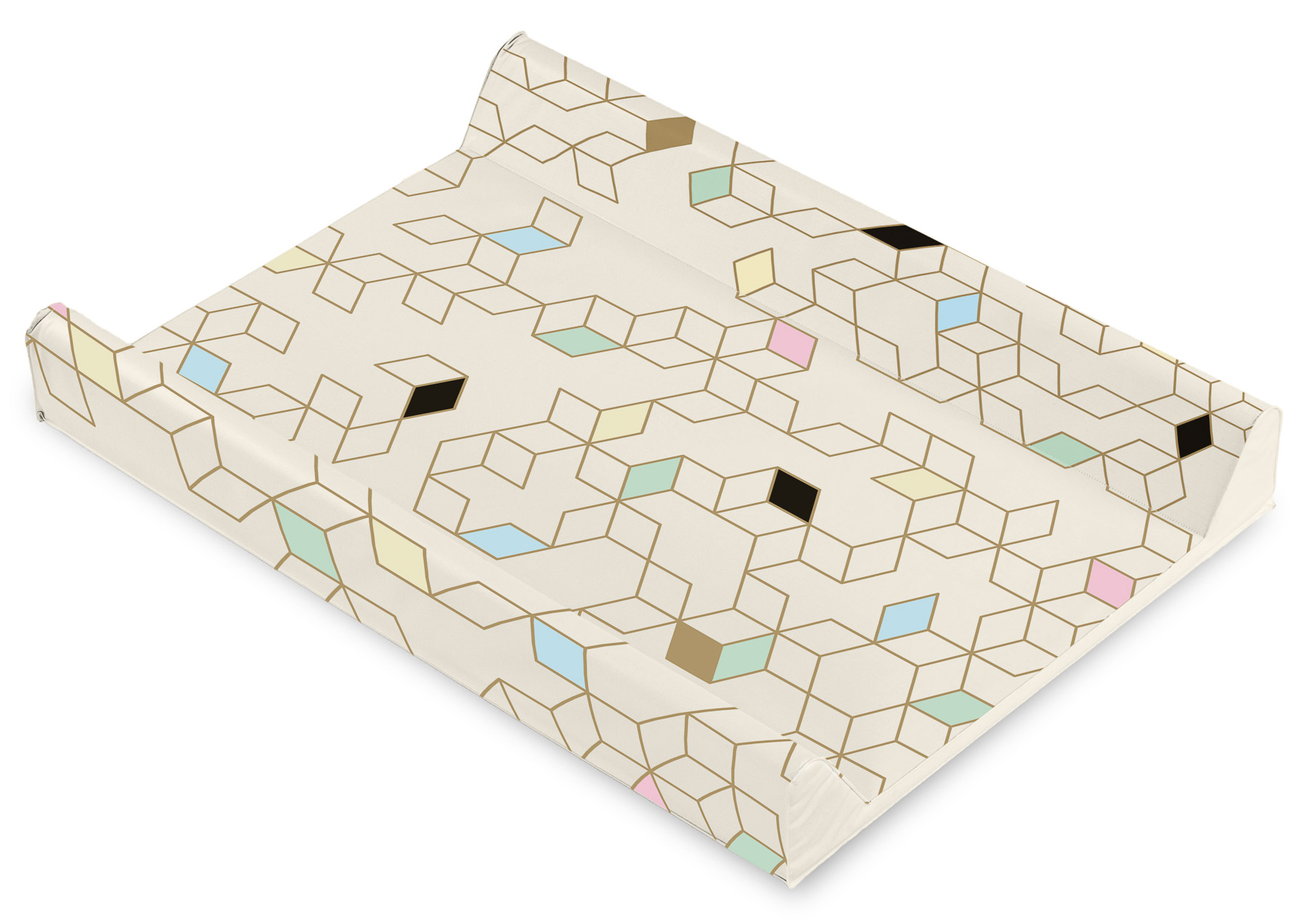 Patterns Changing Pad – cubes beige