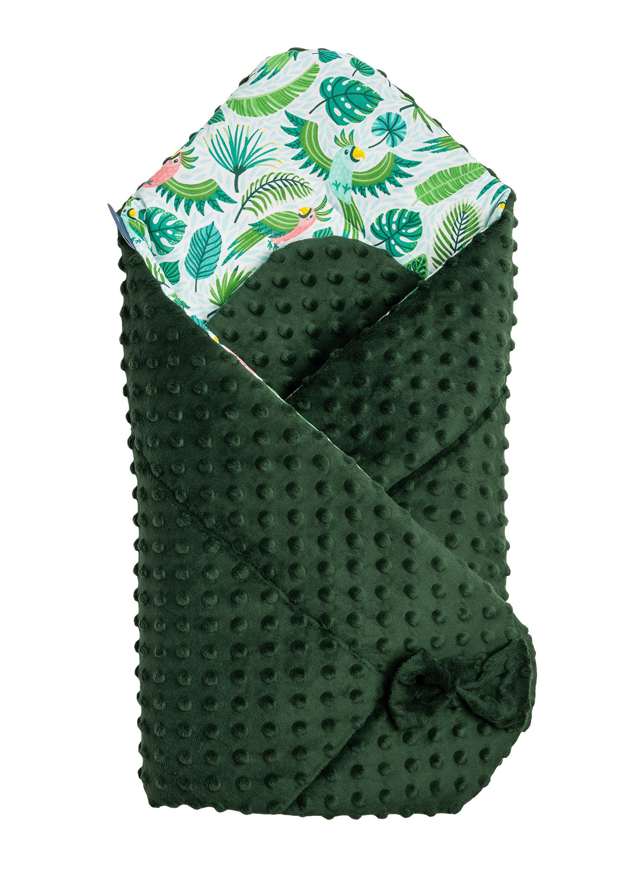 Minky Baby Nest Cone Wrap – parrots green