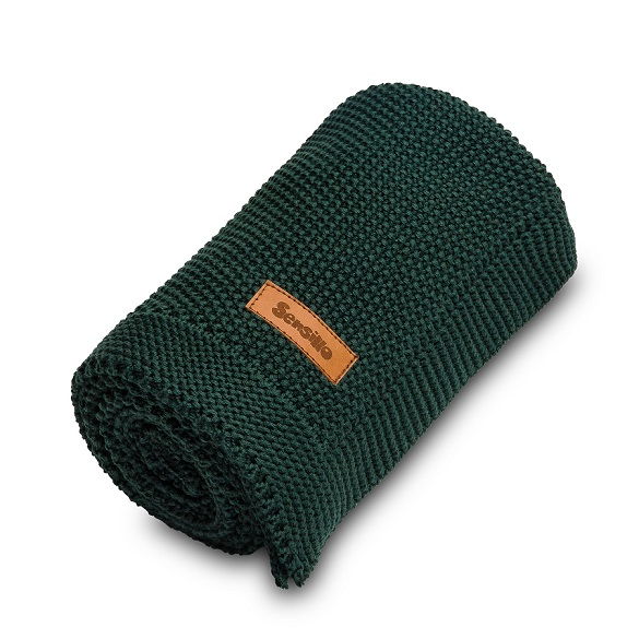 Knitted Blanket – dark green