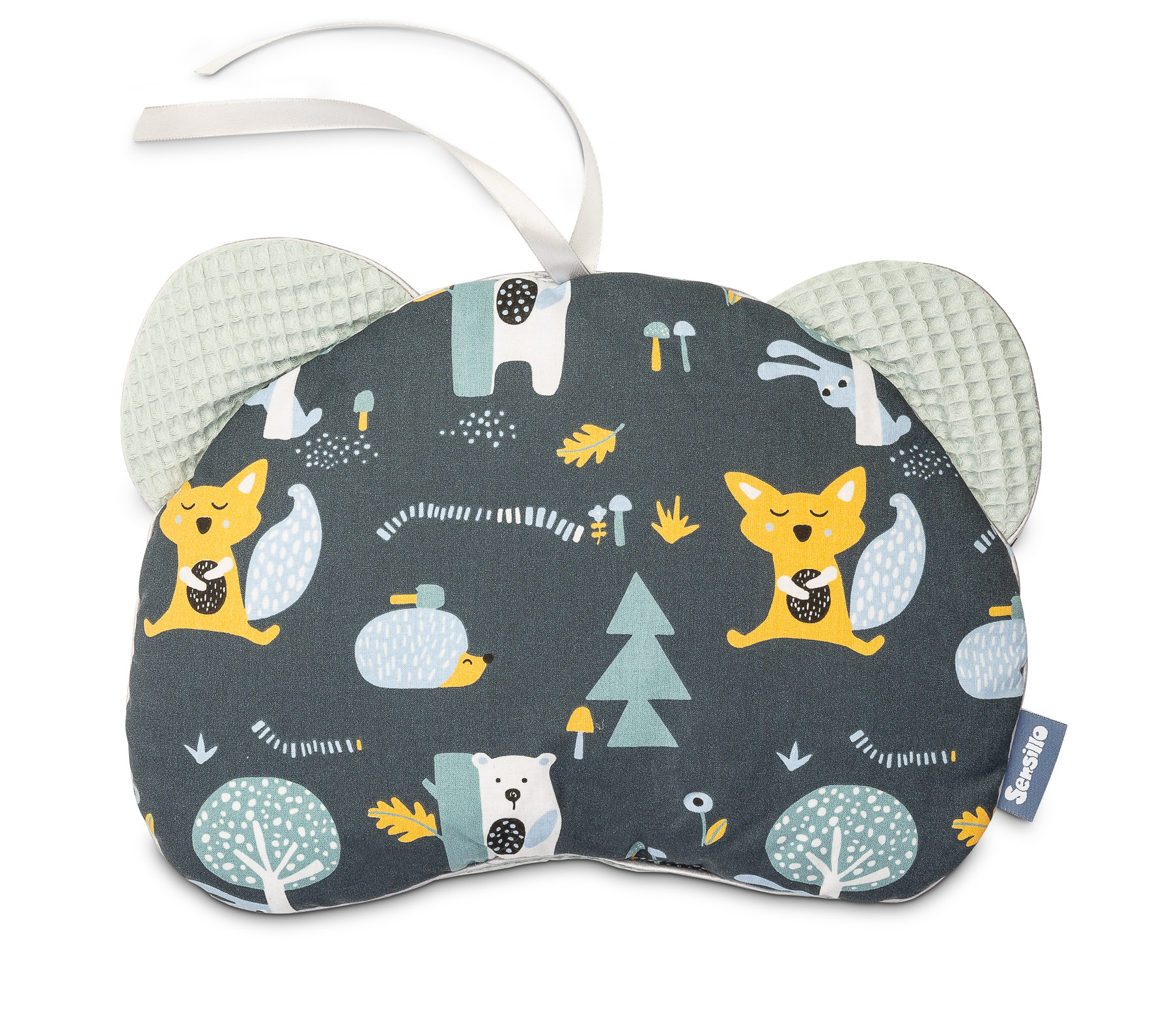 Pushchair pillow Bear – Waffle clearing mint