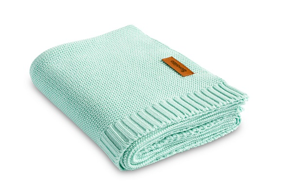 Bamboo and cotton blanket – mint