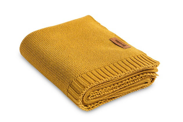 Bamboo and cotton blanket – mustard