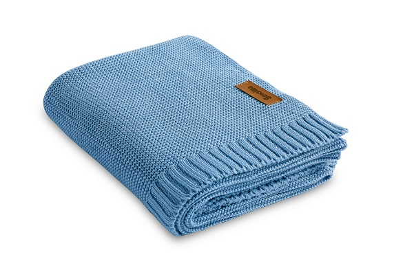 Bamboo and cotton blanket – blue