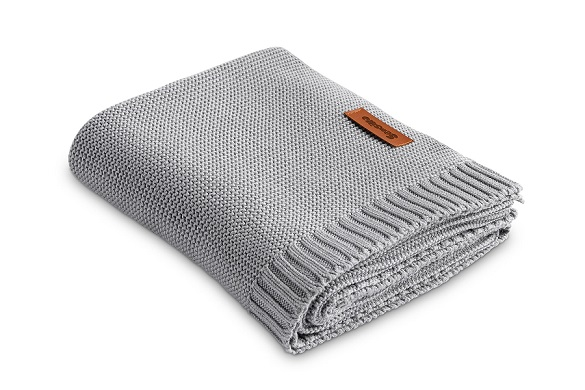 Bamboo and cotton blanket – grey
