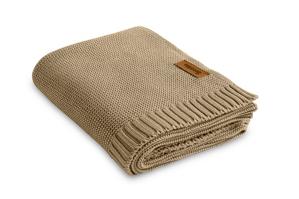 Bamboo and cotton blanket – beige