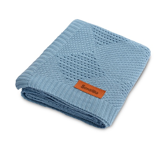 Bamboo blanket – blue