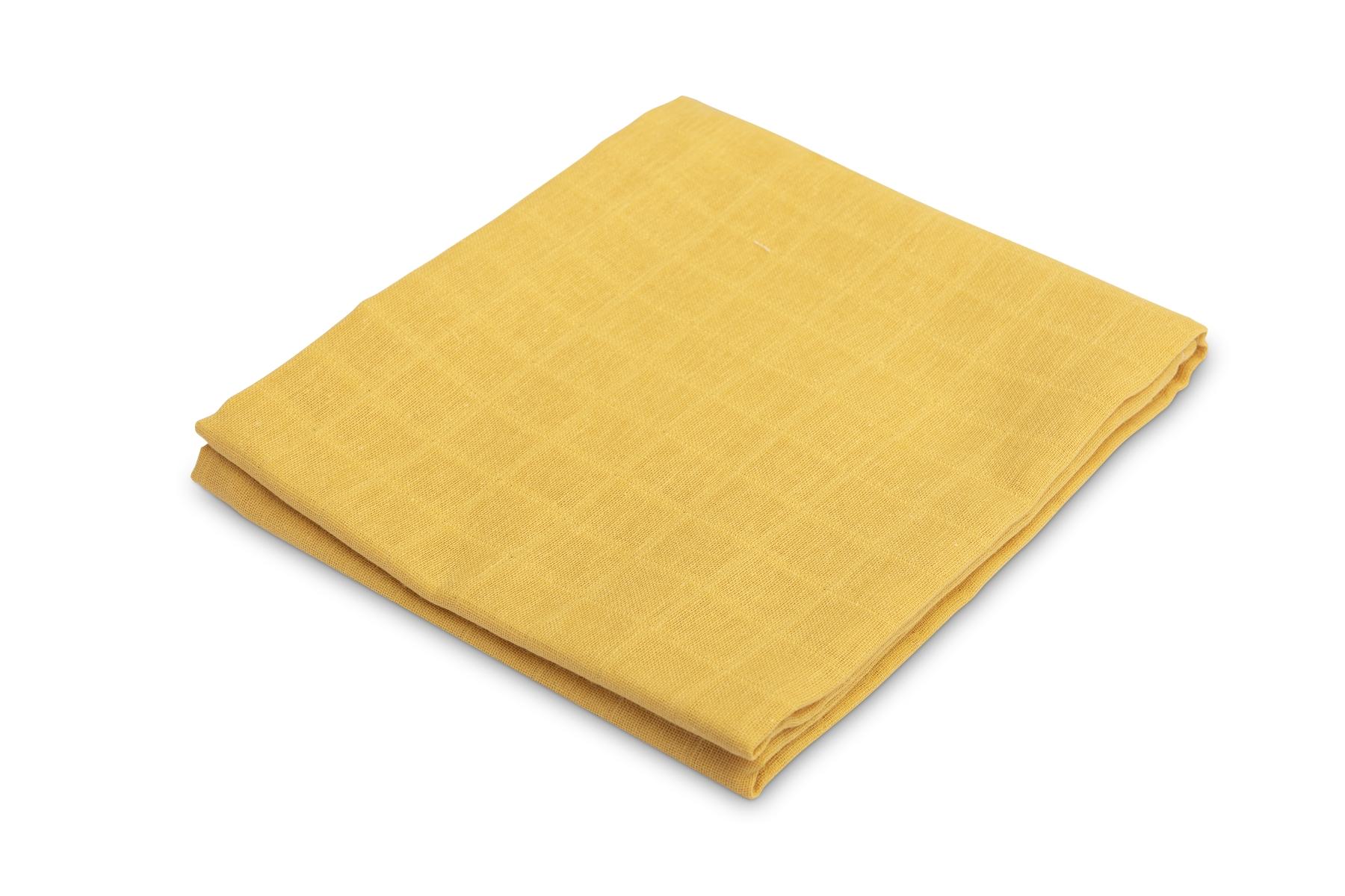 Muslin diaper – smooth mustard