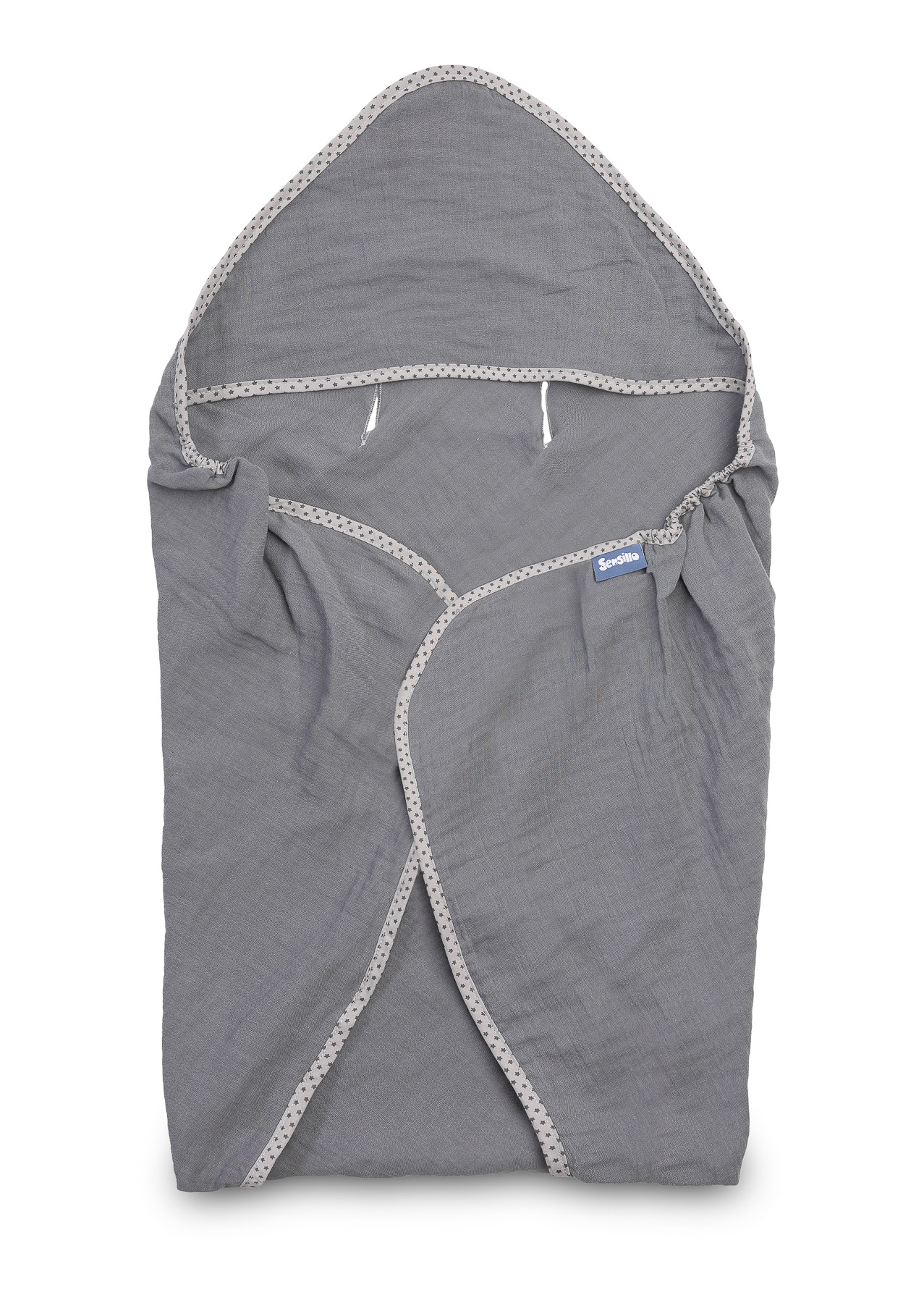 Child seat muslin swaddle blanket for summer – graphite