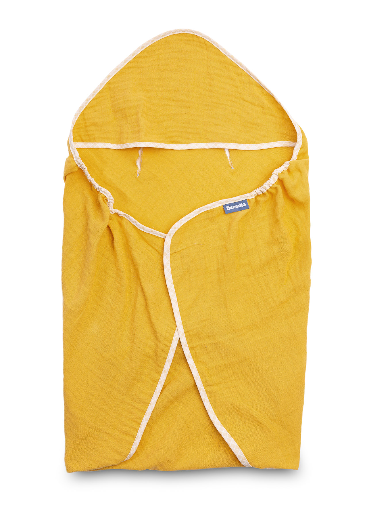 Child seat muslin swaddle blanket for summer – mustard