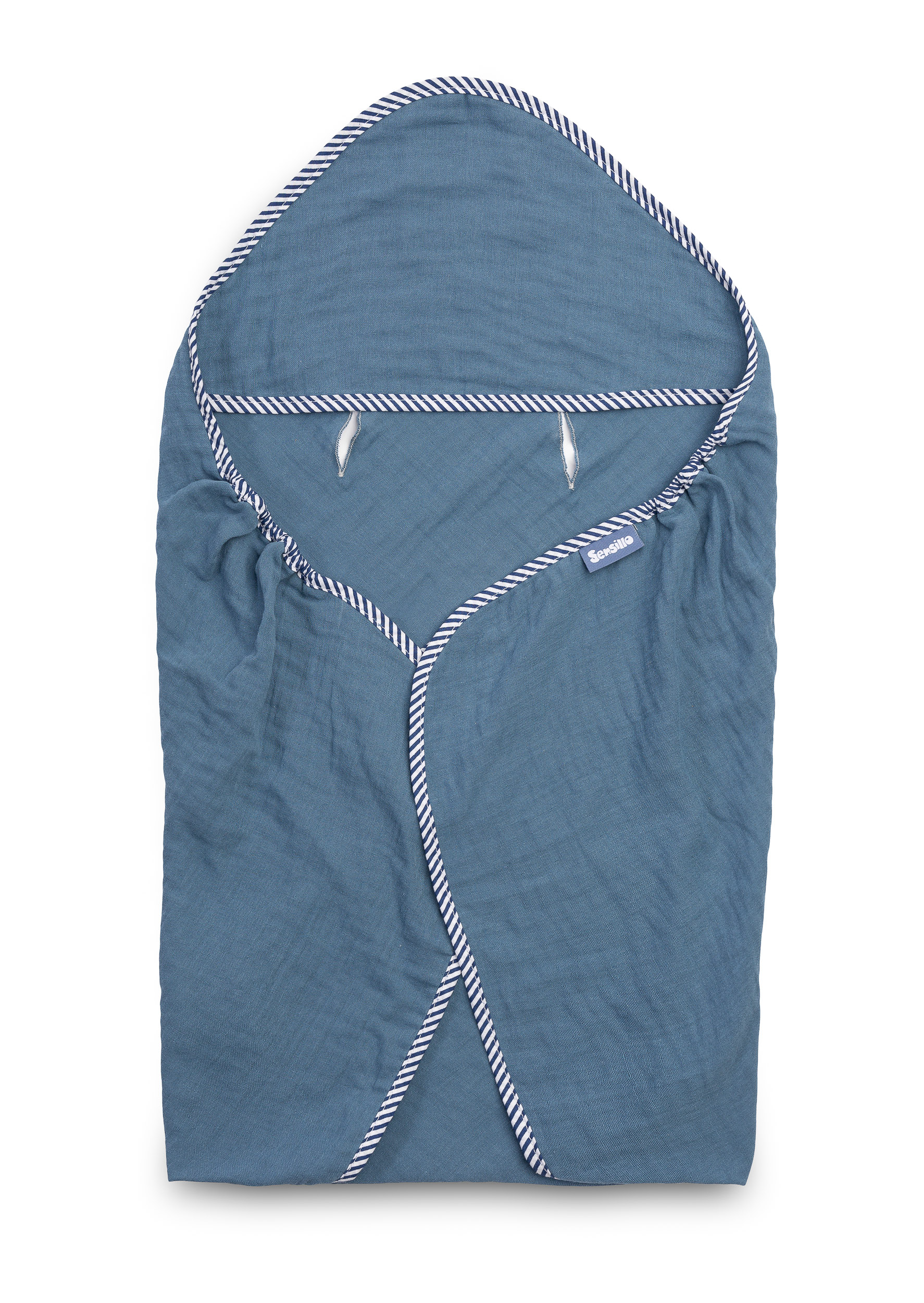 Child seat muslin swaddle blanket for summer – blue