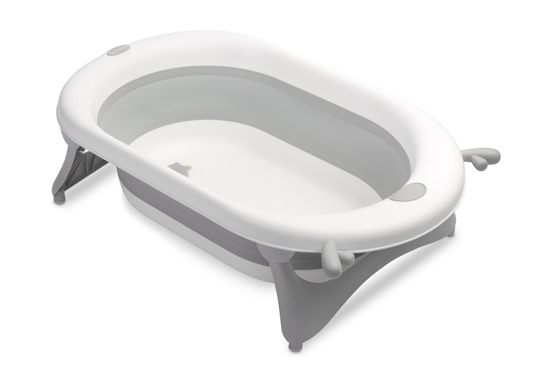 Foldable travel bath tub – grey