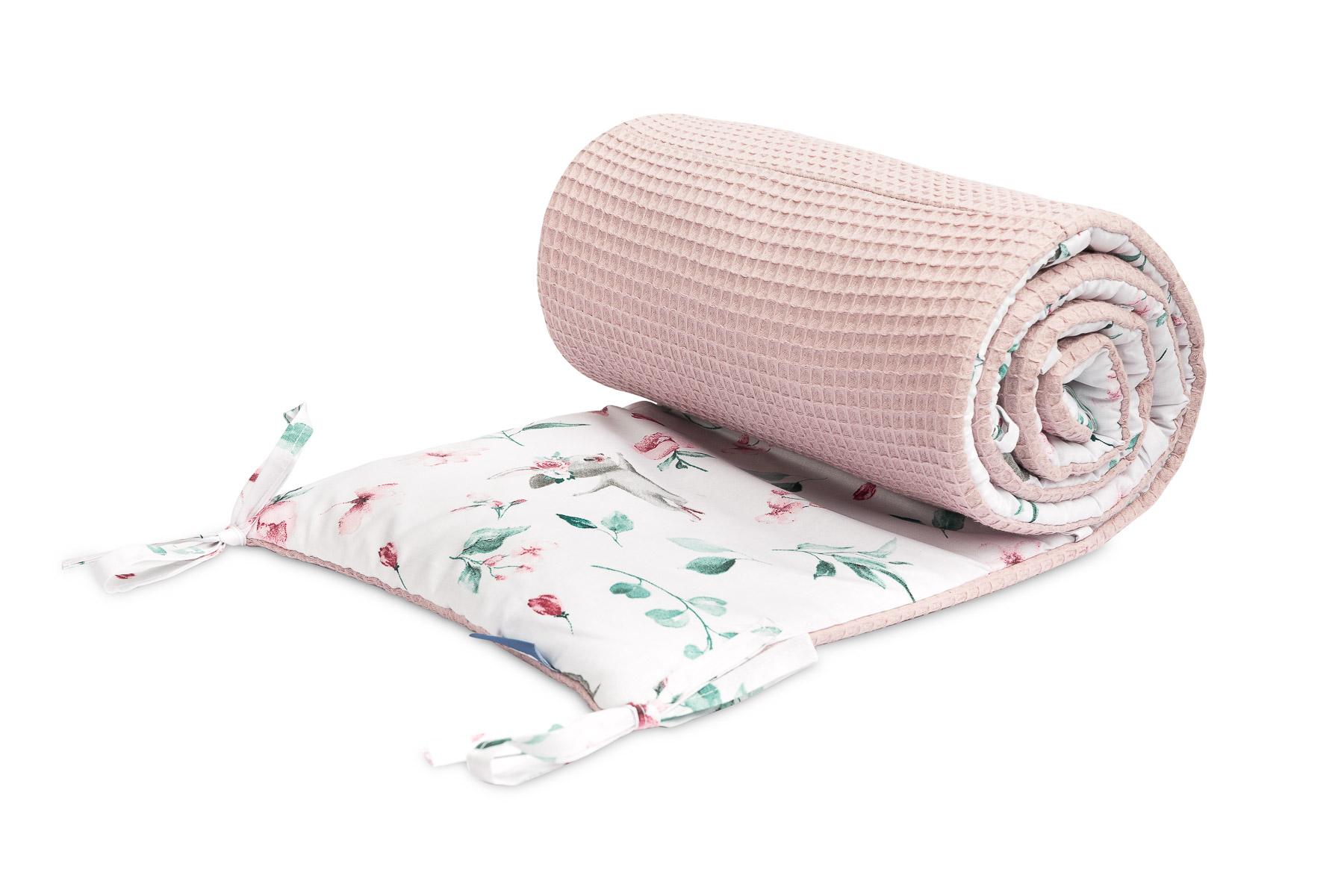 Ochraniacz do łóżeczka wafel – hipopotamy różowy