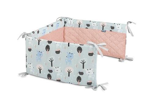 Ochraniacz do łóżeczka Plusz Karo – jelonki