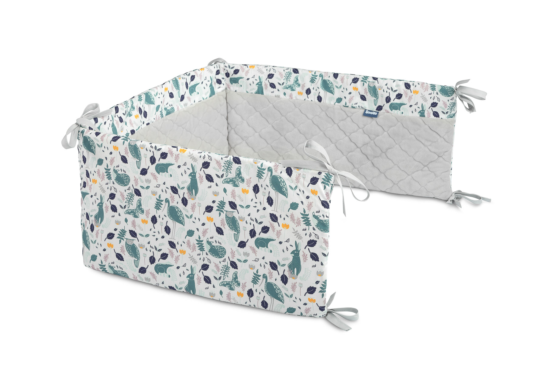 Ochraniacz do łóżeczka Plusz Karo – zwierzątka