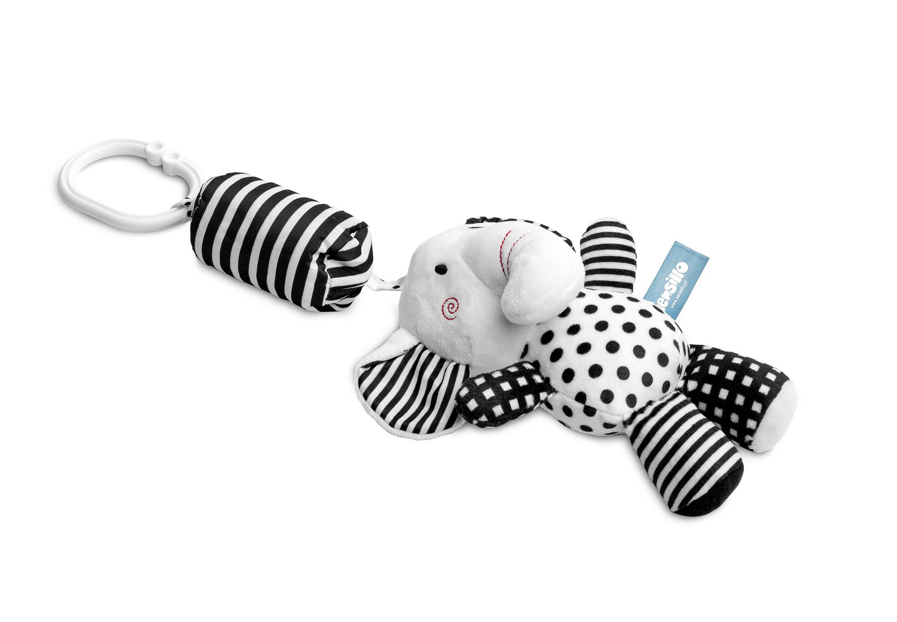 Black&White zawieszka do wózka – słoń