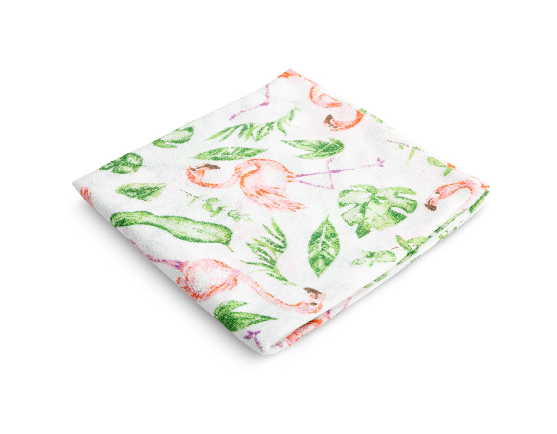 Muslin diaper – flamingos