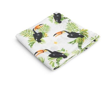 Muslin diaper – toucans