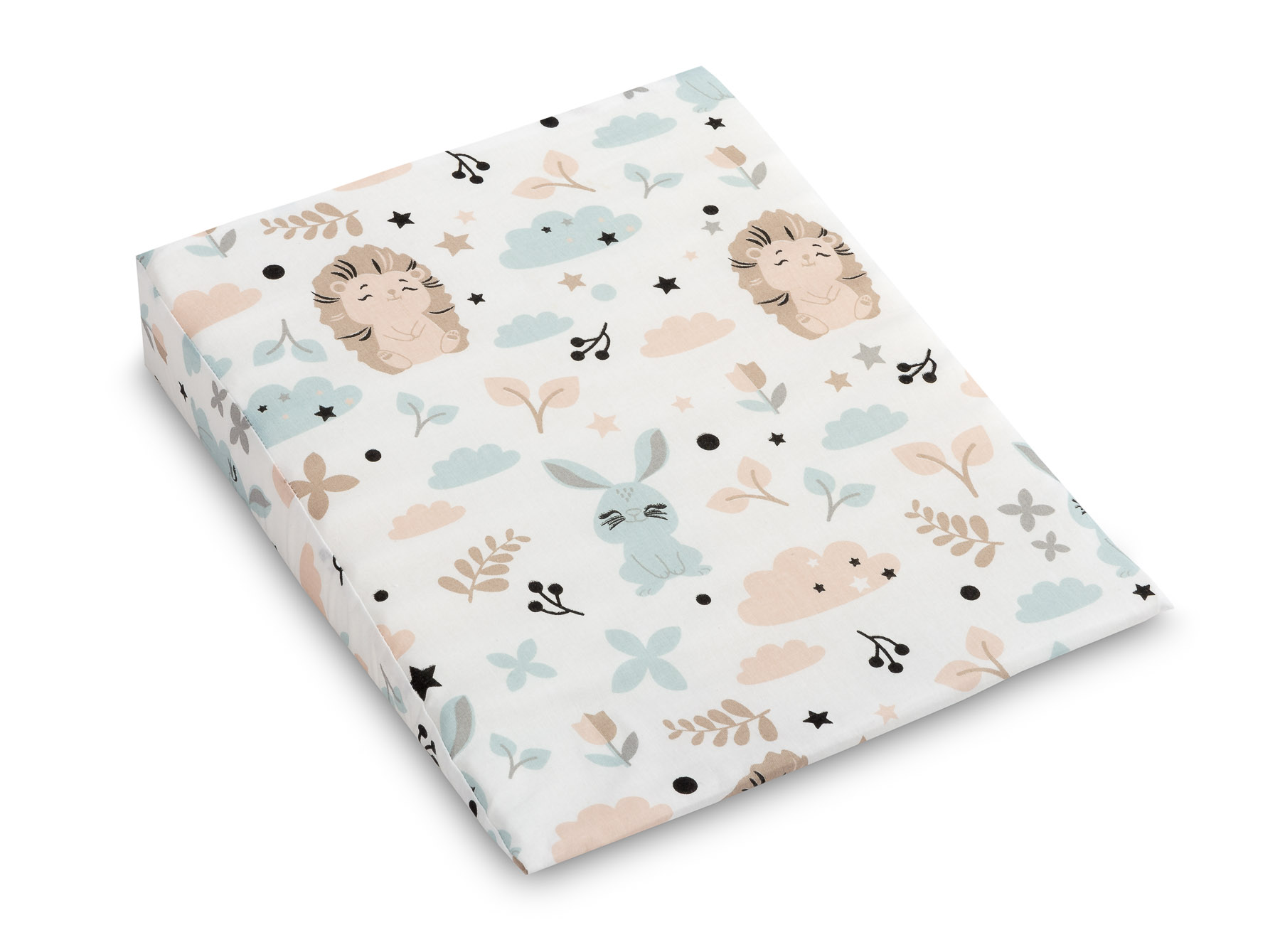 38×30 Wedge Pillowcases – hedgehog and rabbit