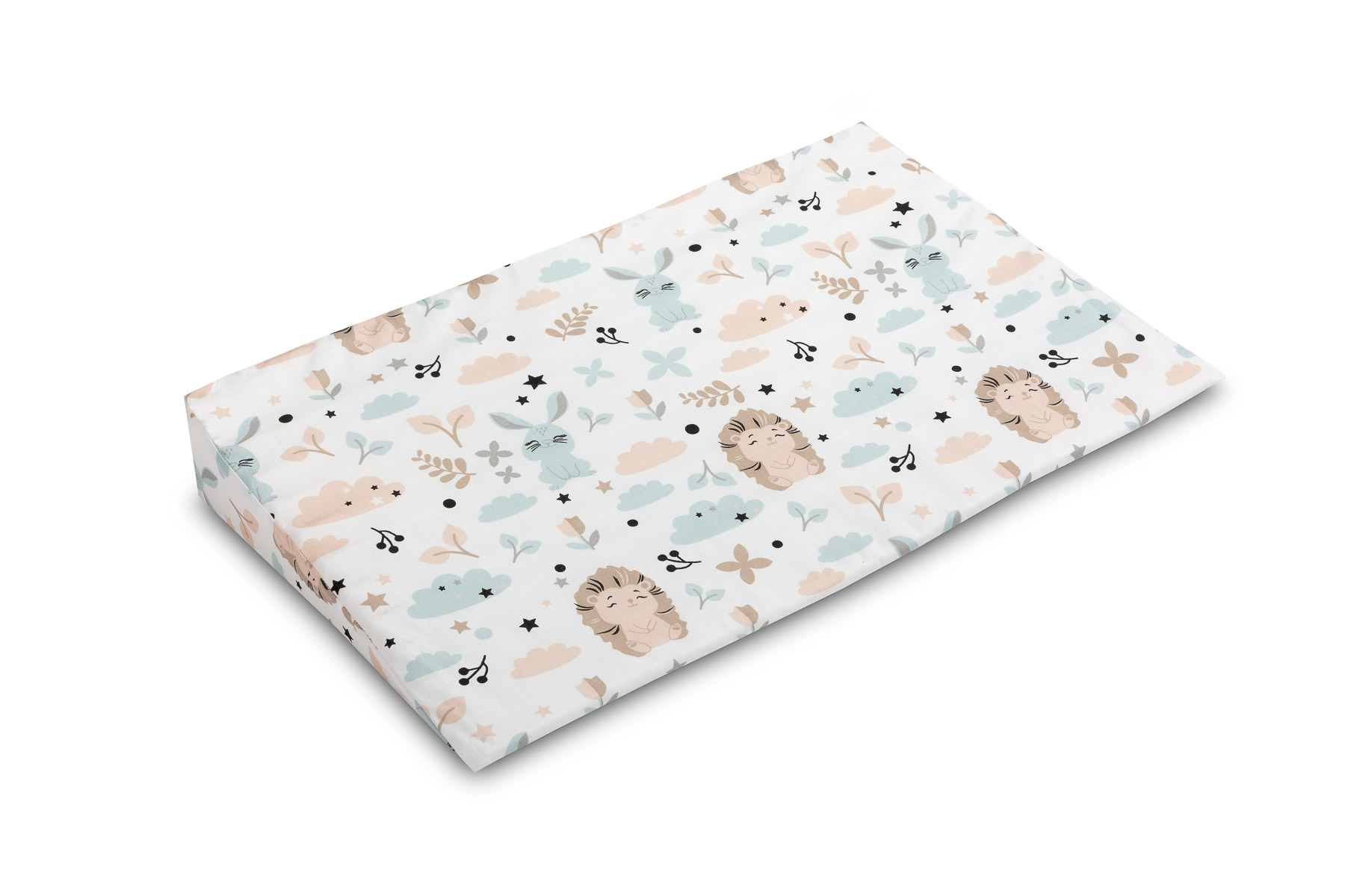 38×60 Wedge Pillowcases – hedgehog and rabbit