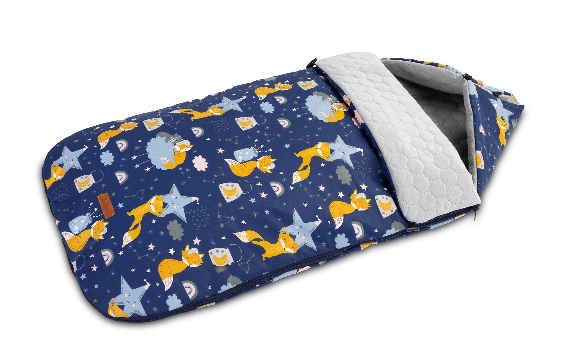 Velvet Sleeping Bag – navy foxes