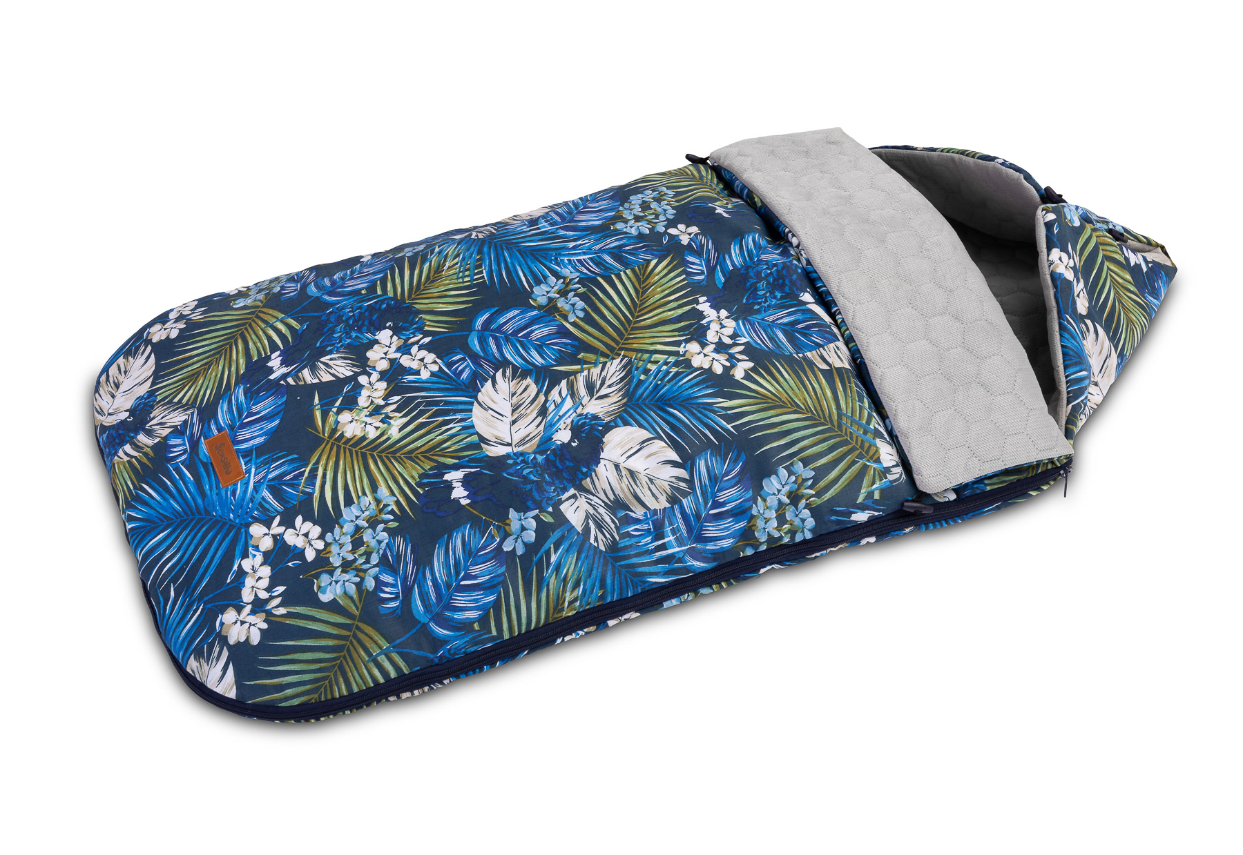 Velvet Sleeping Bag – navy parrots