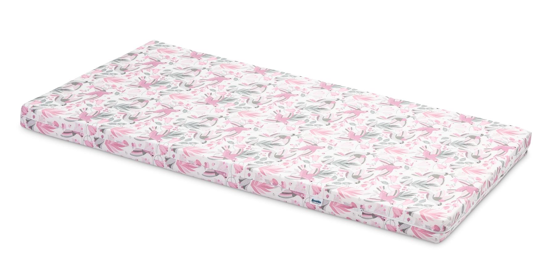 Wkład do łóżeczka – różowe ptaki