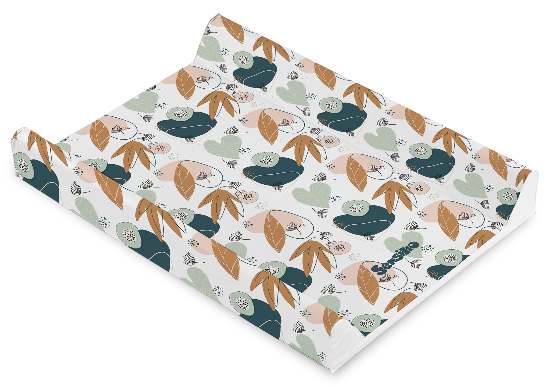 Soft changing pad – Garden Leaves