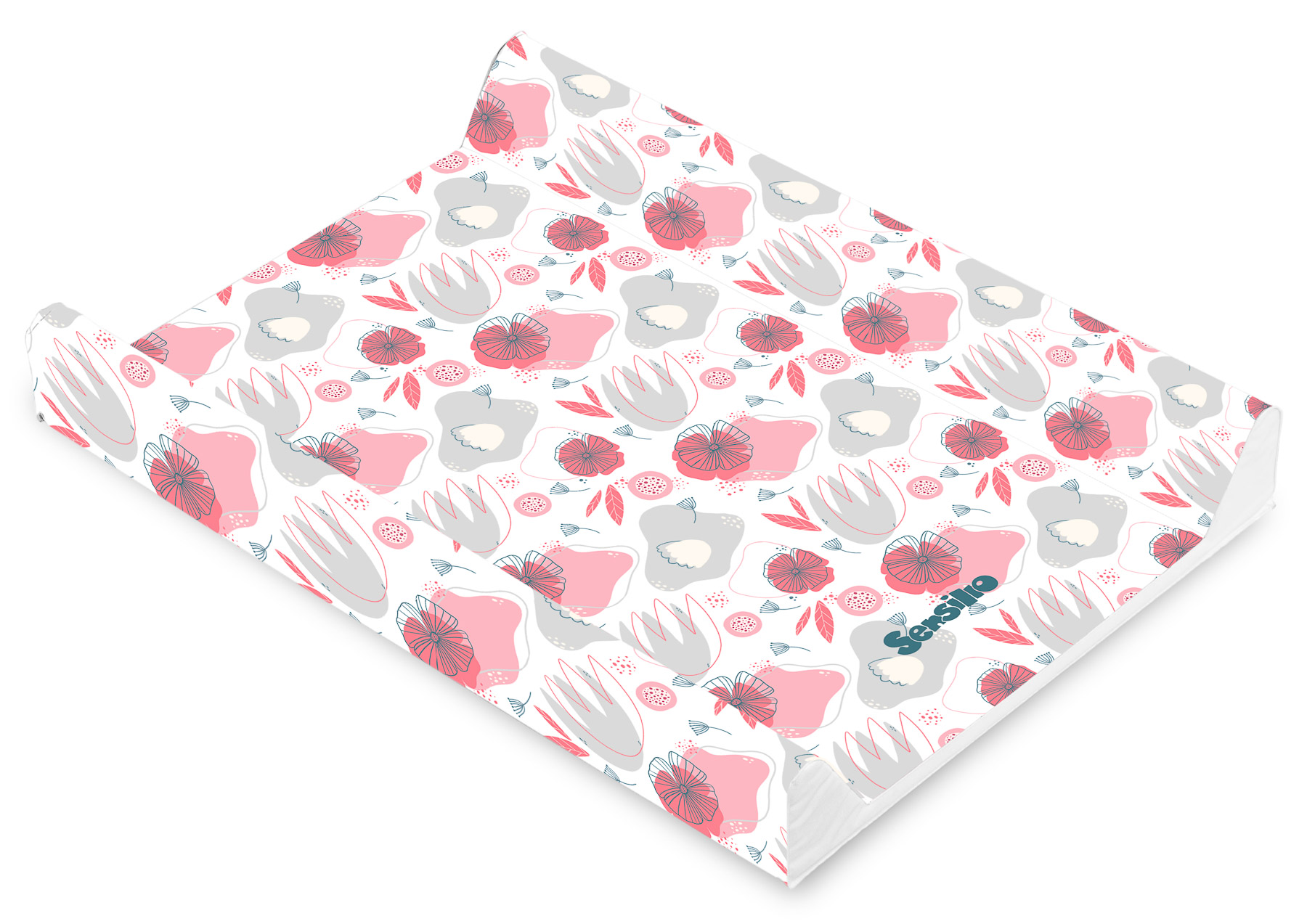 Soft changing pad – Garden Poppies